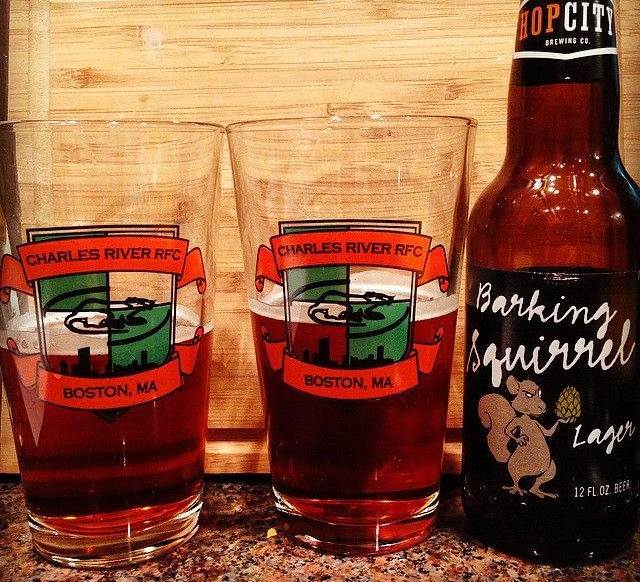 Charles River Rugby Pint Glasses