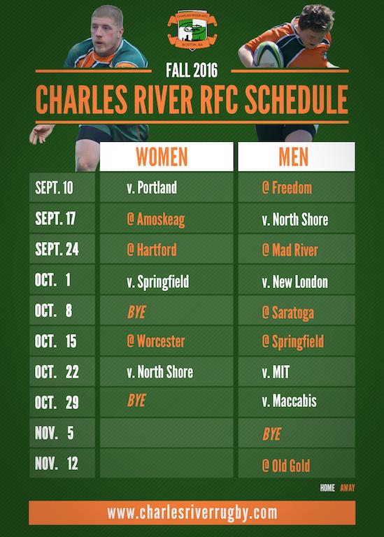 Fall 20016 Schedule